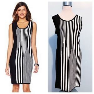 Carmen Vertical Striped Sleeveless Sweater Dress